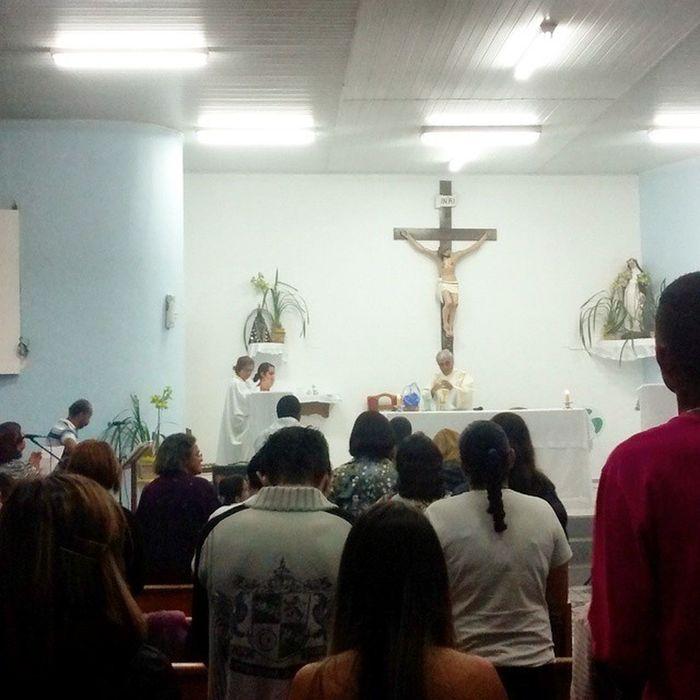 Novena de Santa Rosa de Lima, com a presença do Diácono Otílio... Hehe Deusemprimeirolugar
