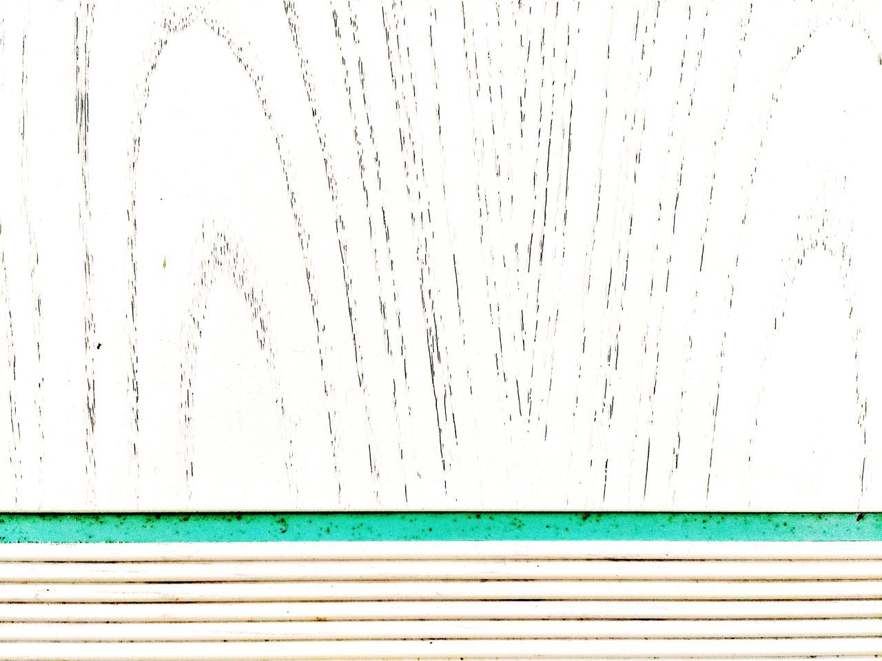 Scratched White Wooden Plank On Wall With Pipes