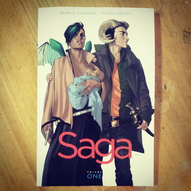 Today I bought Saga Vol.1 because it looks beautiful and BrianKVaughan never disappoints ^___^