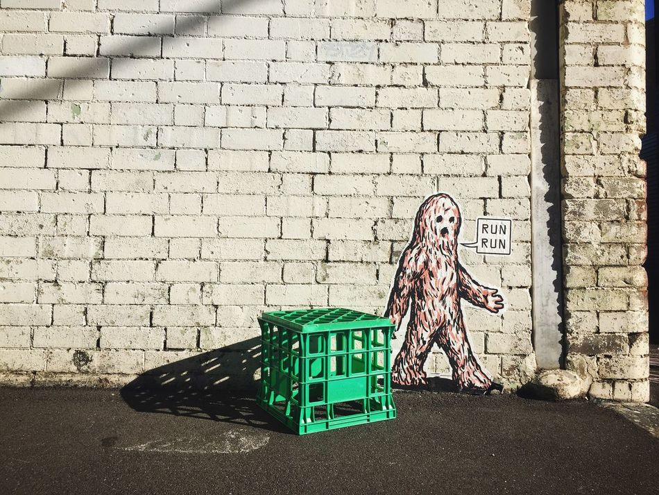 Chewbacca Brick Walls Chewbacca Milk Crates Outdoors Street Photography Streetphotography Wall Wall Art Wall Sticker