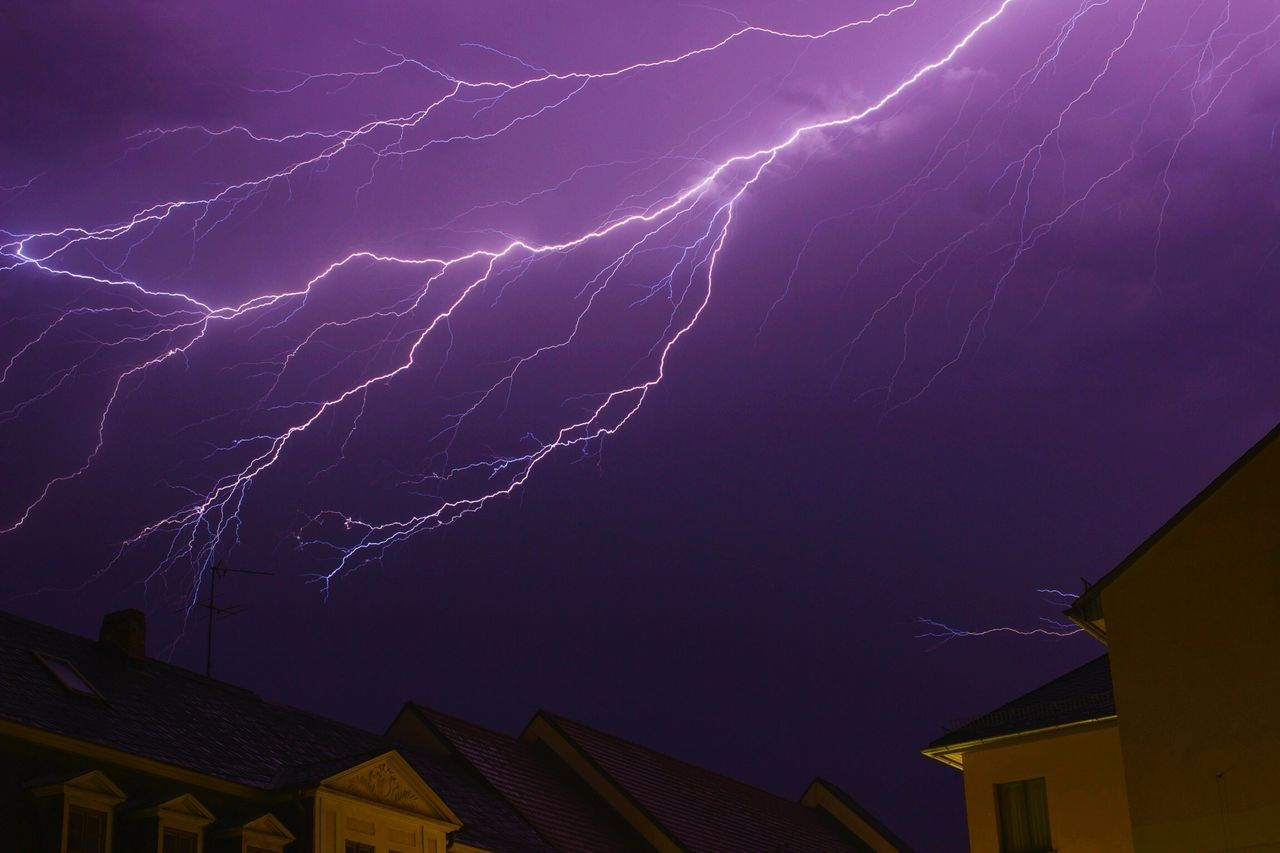 Beautiful stock photos of lightning, , Building Exterior, Lightening, Low Angle View