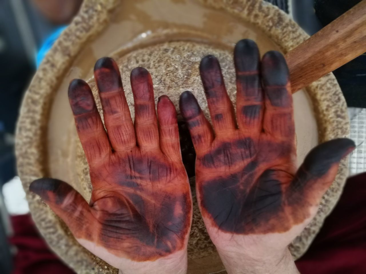 Processing argan seeds Argan ArganOil Berber  Cosmetic Fatigue  Food Hand Handmade Hands Hands At Work Healthy Marocco Nut Nuts Oil Processing Traditional