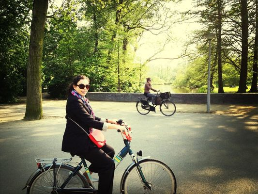 Checking in at Vondelpark by Amina