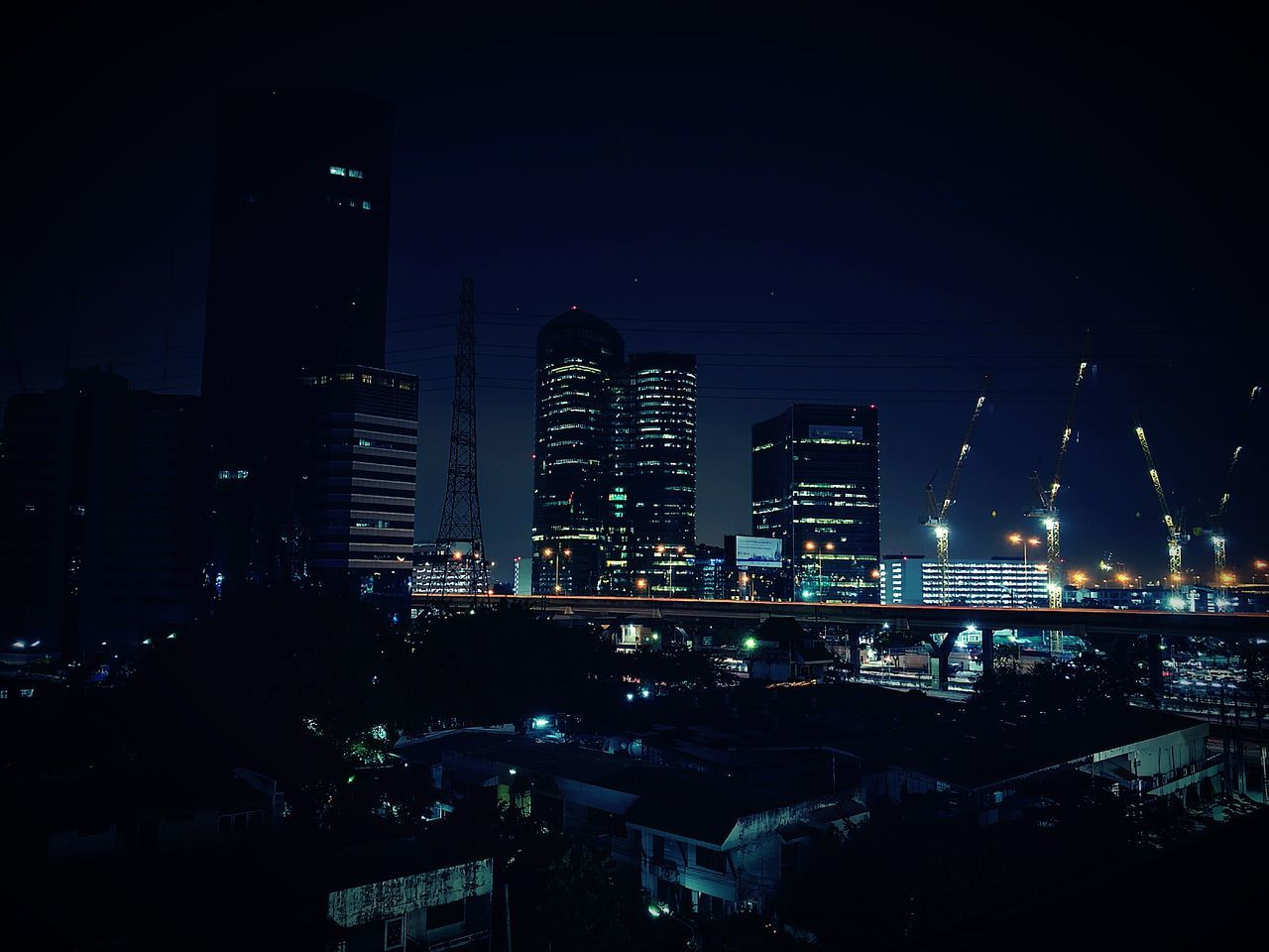 Architecture City Building Exterior Illuminated Built Structure Cityscape Skyscraper Tall - High Tower Night Sky Dark Urban Skyline Tall Modern Office Building Outdoors City Life Building Story No People