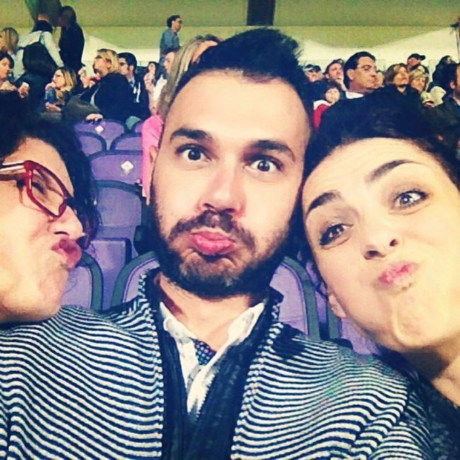 Un selfie tutto d'effetto Stadio Artemiofranchi Amici Partitadelcuore Instanphoto Lunedì Firenze Tribuna