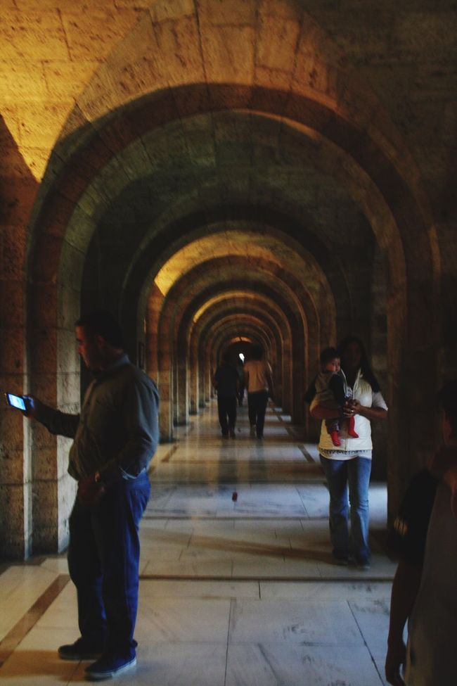 Arch Full Length Men Walking Indoors  Person Tunnel Arched Architecture Group Of People Day Archway Pedestrian Walkway Anıtkabir