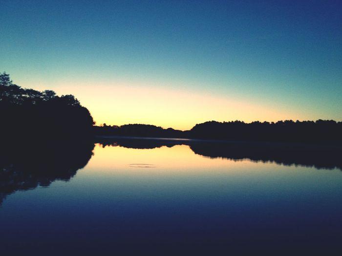 Neu Canow Sunrise Water Reflections Lake