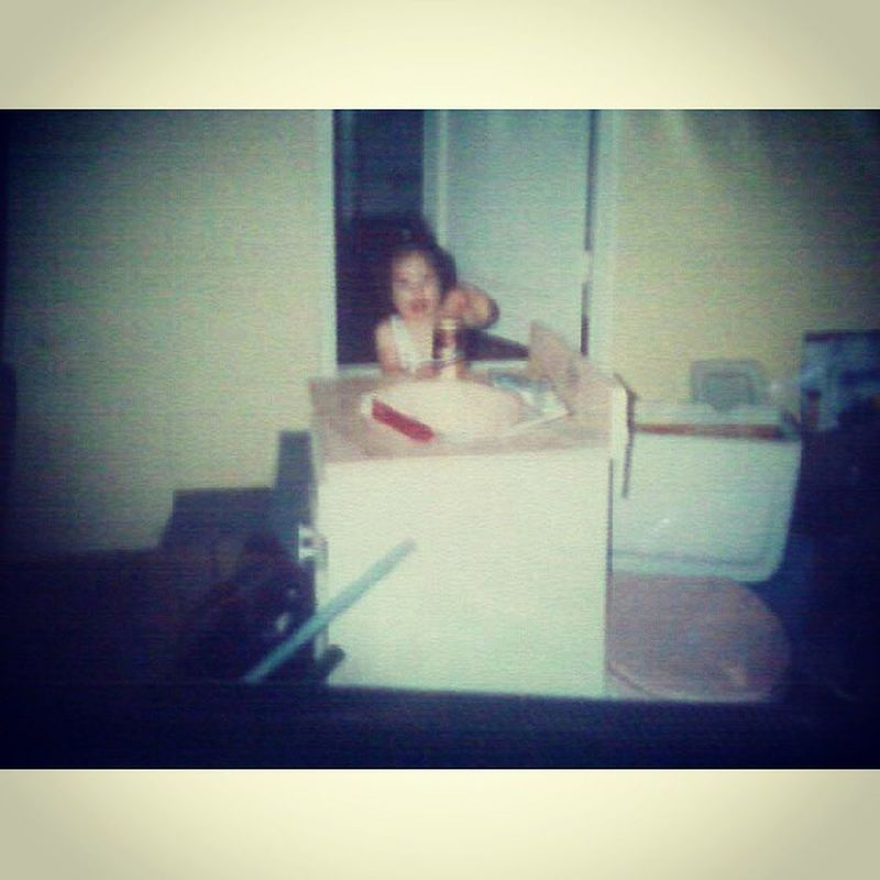 Yup I started drinking at a young age. I blame my dad. Lol jk TBT  LilMe