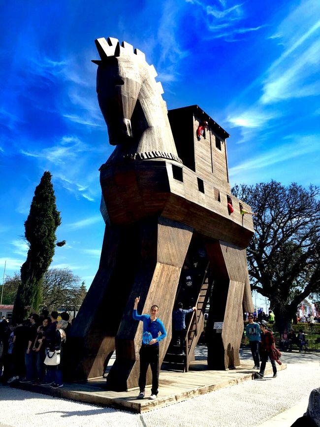 Truva Atı Truvahorse Truvaatı Truva çanakkale Blue Blue Sky Blueman Sculpture Outdoors