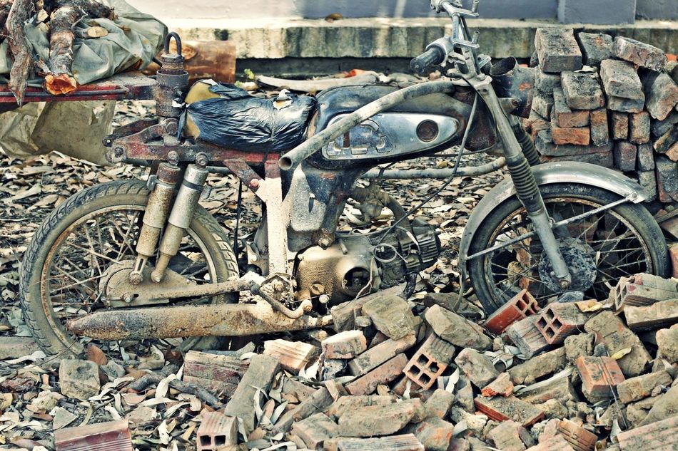 Beautiful stock photos of old, Day, Motorcycle, No People, Old