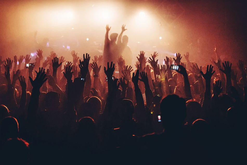 Beautiful stock photos of concert, Arms Raised, Arts Culture And Entertainment, Crowd, Electric Light