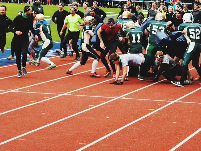 Spiderman Check This Out Runing Contest Rugby Run For Your Life Falling Happiness Rumbling Kaos Falling Sport Sports Sports Photography Team Numbers Green Shirt  Runing EyeEm Olympus Pen Lite E-PL7