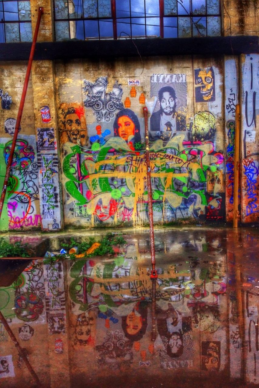 multi colored, creativity, graffiti, art and craft, no people, built structure, day, architecture, indoors, close-up