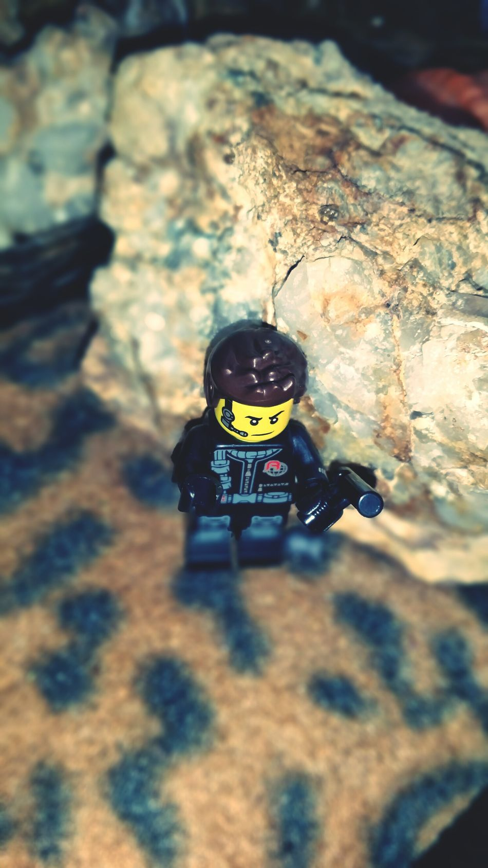 Close-up Through My Lens High Angle View Australianphotographer Mobilephone Photography Lego Man No People Fragility Quartz Rocks Lego Minifigures LEGO Backgrounds Indoors  Full Frame Abstract Quartz