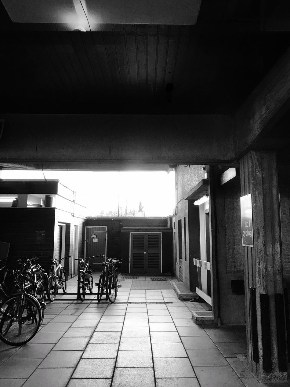 Darkness and light Welcome To Black Transportation Built Structure Bicycle Architecture Land Vehicle Mode Of Transport Indoors  Day No People Train Station Train Platform Bikes Light And Shadow Darkness And Light Capture The Moment IPhone7Plus Exceptional Photographs Black And White EyeEm Best Shots EyeEm Gallery Streetphoto_bw Blackandwhite Eye4photography  EyeEm The Secret Spaces