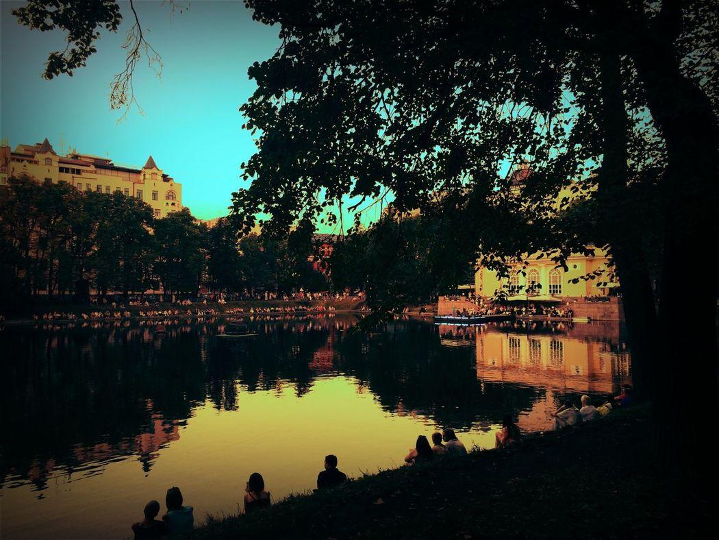 Хороший вечер Патриаршие пруды пруд красота