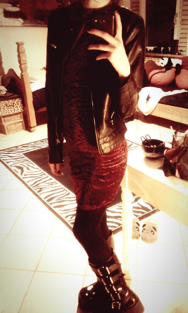Me Outfit Dress Demonia Black Dark Mirror