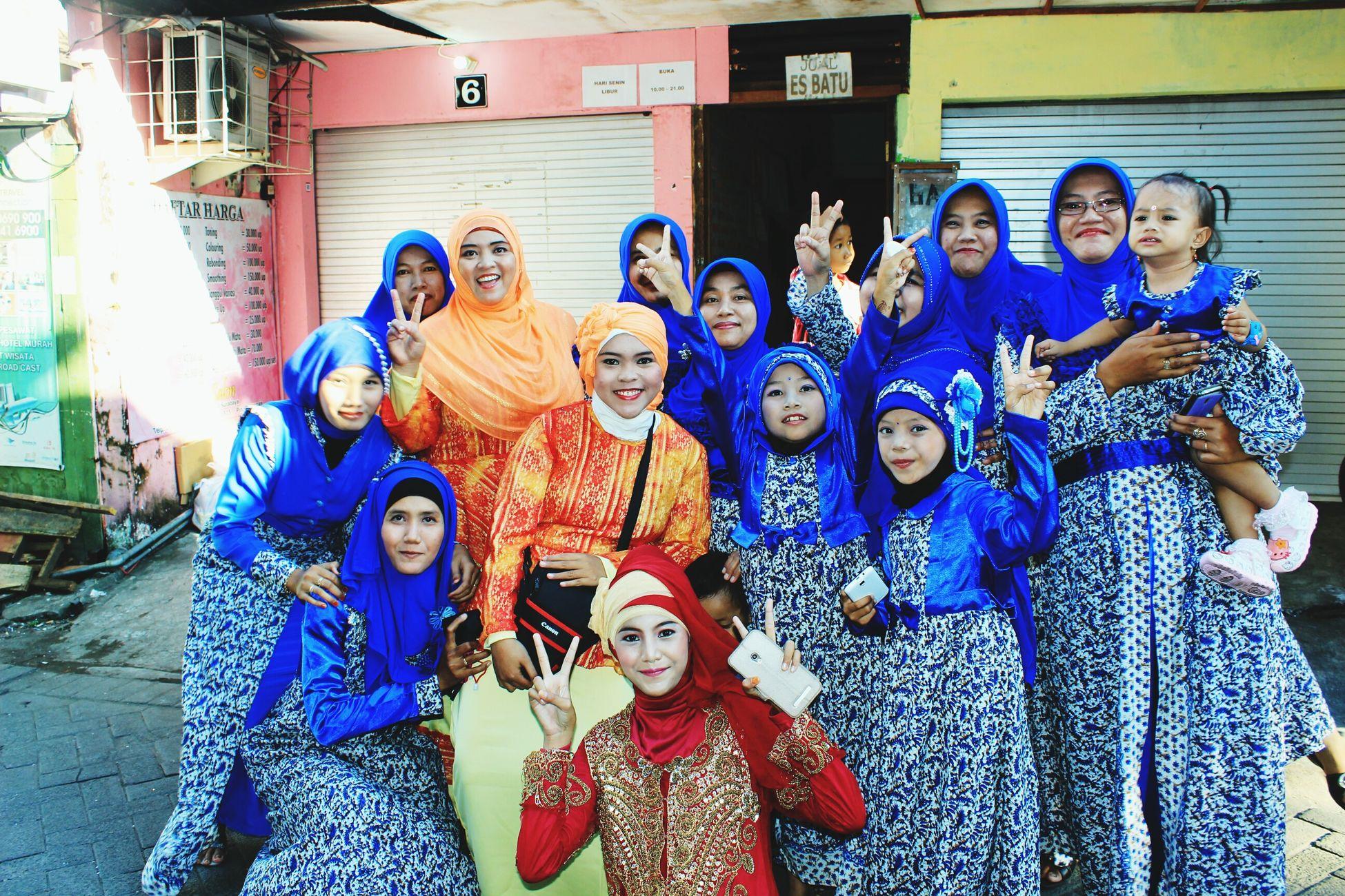 Good times Blue Orenge Red Kebaya Indonesia FamilyTime Be Happy