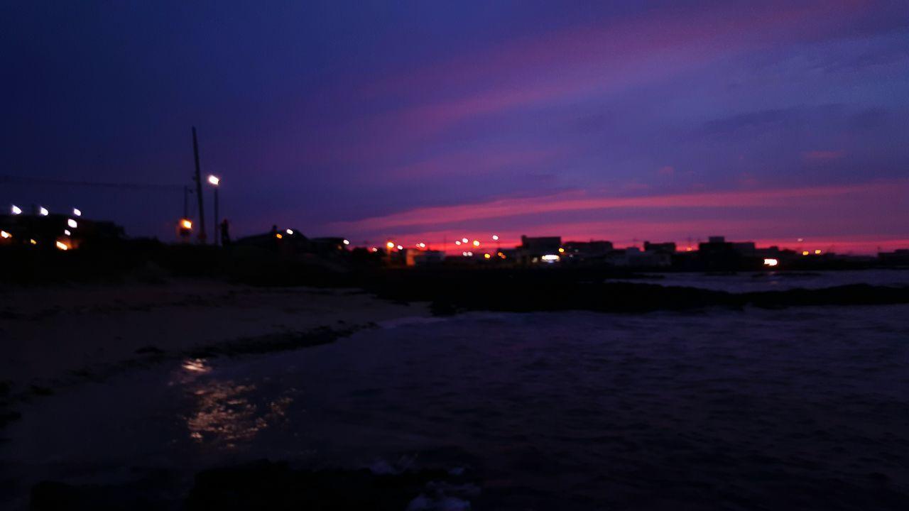 세화해변 Jeju Island, Korea Sunset Nature Sky Sunsetsky
