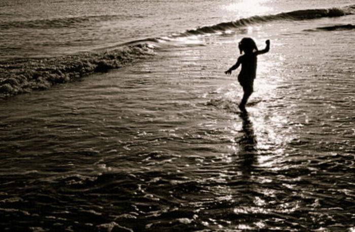 Summer Sunset Sea Silhouette