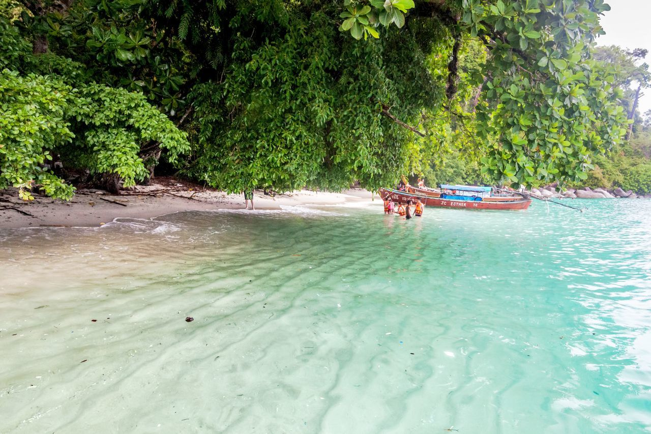 Holiday in Thailand - Beautiful Island of Koh Lipe Adaman Sea Beach Blue Blue Sky Boat Clear Day Editorial  Green Green Sea Holiday Holidays Island Koh Lipe Outdoors Paradise Sky South East Asia Thailand Torquoise Sea Vacations Water