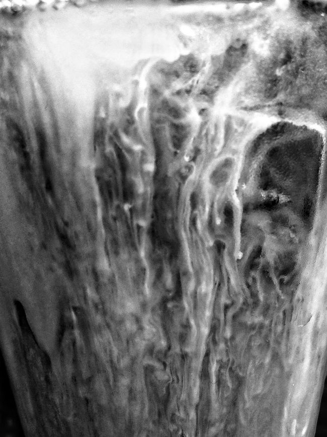 Iced Coffee Blackandwhite Liquid Texture