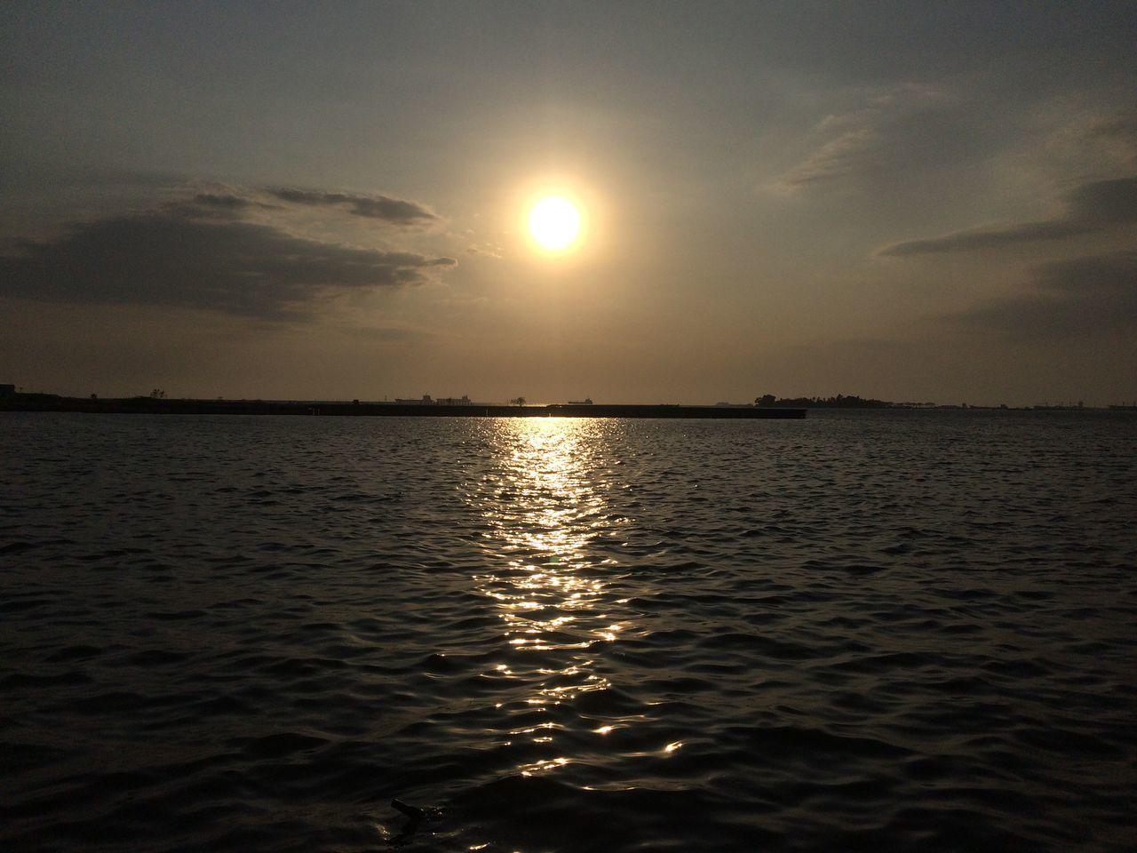 Beach Beautiful Sunset Beauty In Nature Calm Losari Beach Outdoors Sea Sun Sunset Tourism Water Waterfront