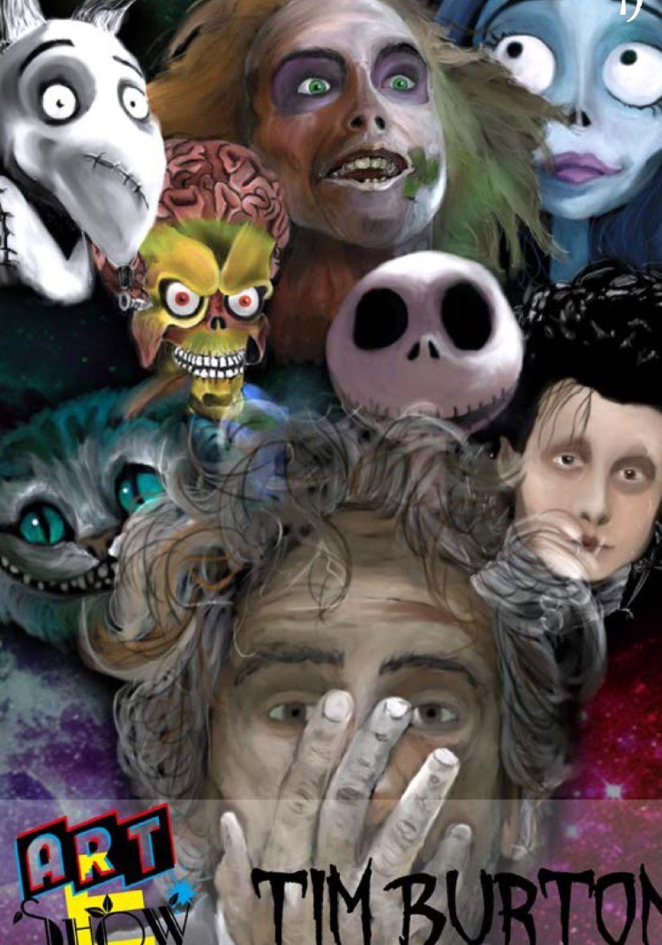 Couverture du premier numéro d'Art E Show Timburton Drawing Art Alice In Wonderland Edward Scissorhands Marsattack TheNightmareBeforeChristmas Beeteljuice Drawings Art, Drawing, Creativity Tablette Graphique