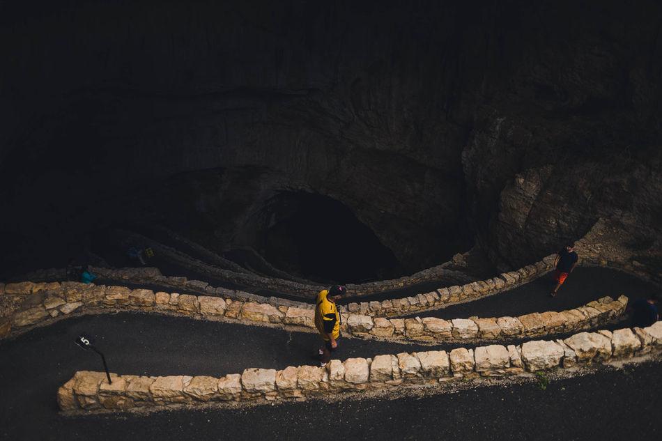 My Year My View Carlsbad Caverns Carlsbad Caverns, New Mexico Carlsbad Caverns National Park Night Dark Road The Way Forward Illuminated Tunnel Nature Outdoors