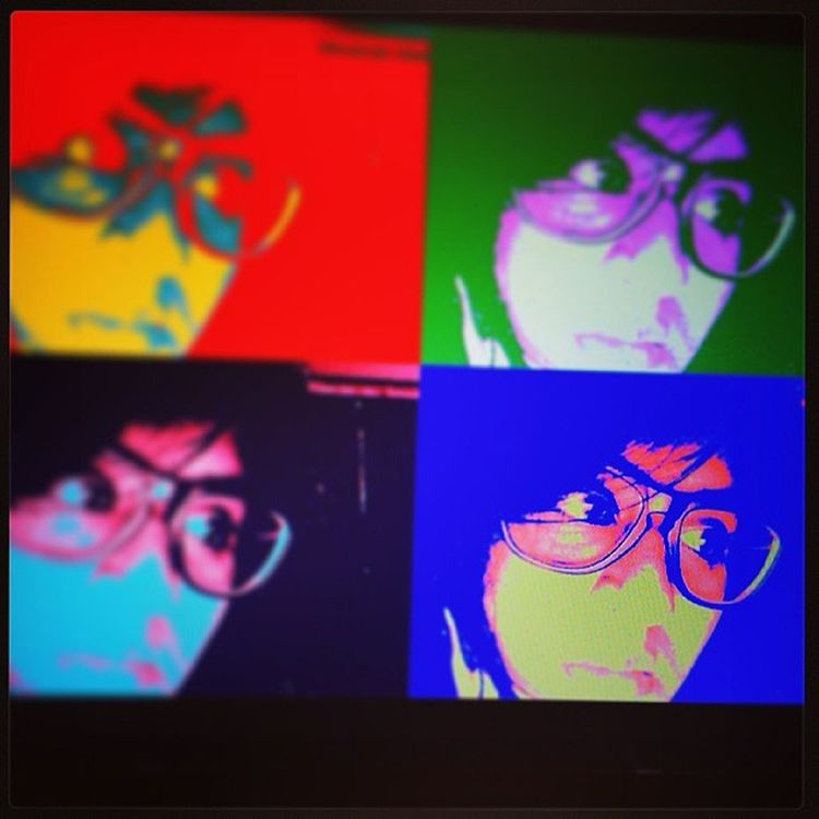 BhootHuMain! Self Popart Colors Newspecs reflecting portrait whysoserious timepass screenshot effect instafun me chaitra