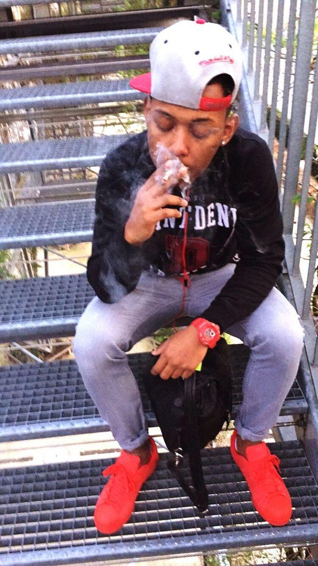 JKid HipHop Adidas Red 4/20 Smoke