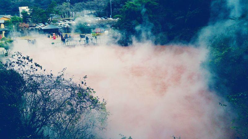 地獄巡り 血の池地獄 Blood Pond Hell Hello World in Ooita Japan
