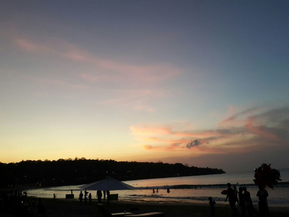 Sky And Beach Sunrise_sunsets_aroundworld Sunset_collection On The Beach Bali Island Love to travel around the world😘😘
