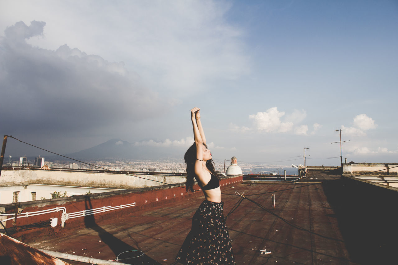 KarmaKoma City Cityscape Cityscapes EyeEmNewHere Freedom Girl Italy Landscape Landscape Photography Lifestyle Lifestyle Photography Lifestyles Naples Napoli Napoliphotoproject Rooftop Rooftop View  Rooftops Sky Urban Volcanic Landscape Volcano Woman Young Girl Young Women The Week On EyeEm