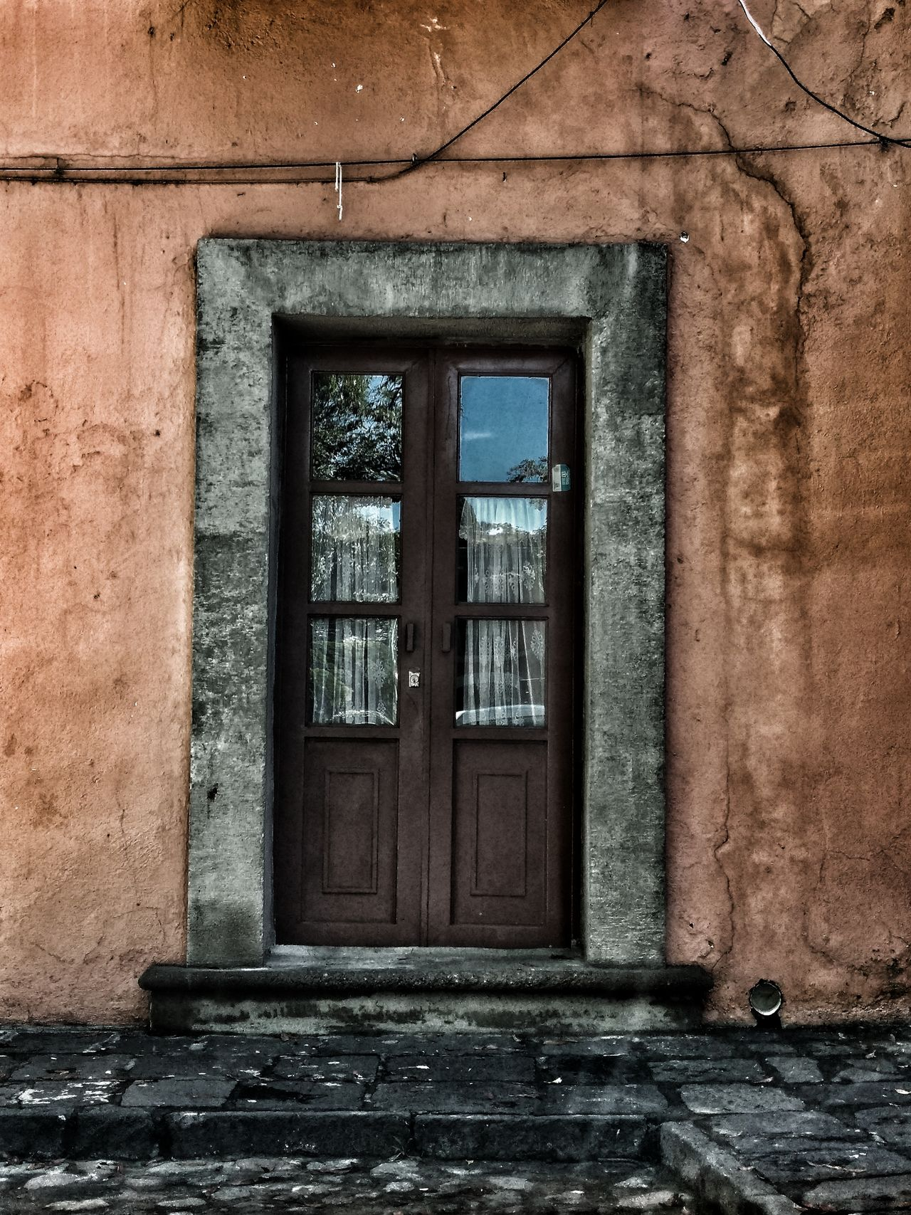 Old Door Architecture Window Built Structure Building Exterior Damaged Deterioration Bad Condition Obsolete Weathered Day History Outdoors No People Historic Window Frame Wall EyeEm Best Shots Talking Photo Filmphotography House Door Old Buildings From My Point Of View Fragility