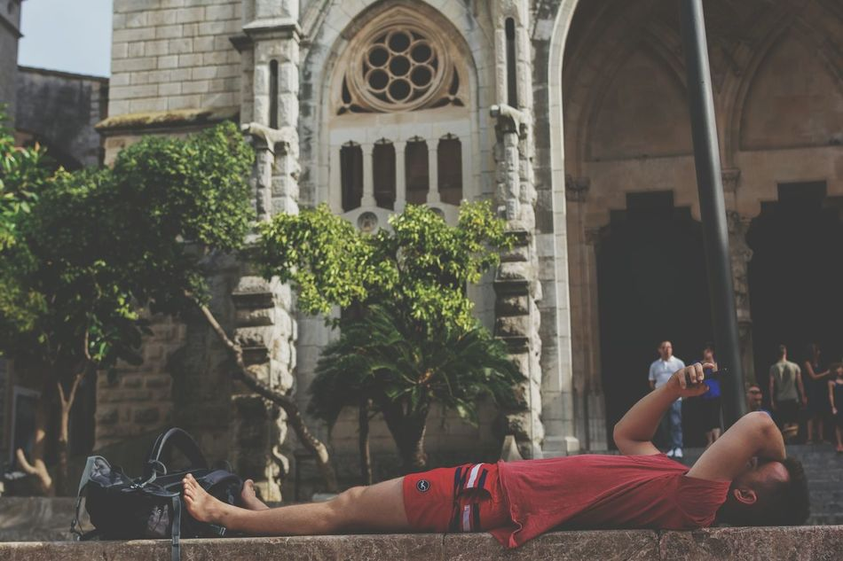 Relaxation Adult Men Young Adult Holiday Focused Church Summer Vibes Tranquil Scene Away From The Hustle Away From It All Peaceful Place Relaxation People Day Outdoors Architecture