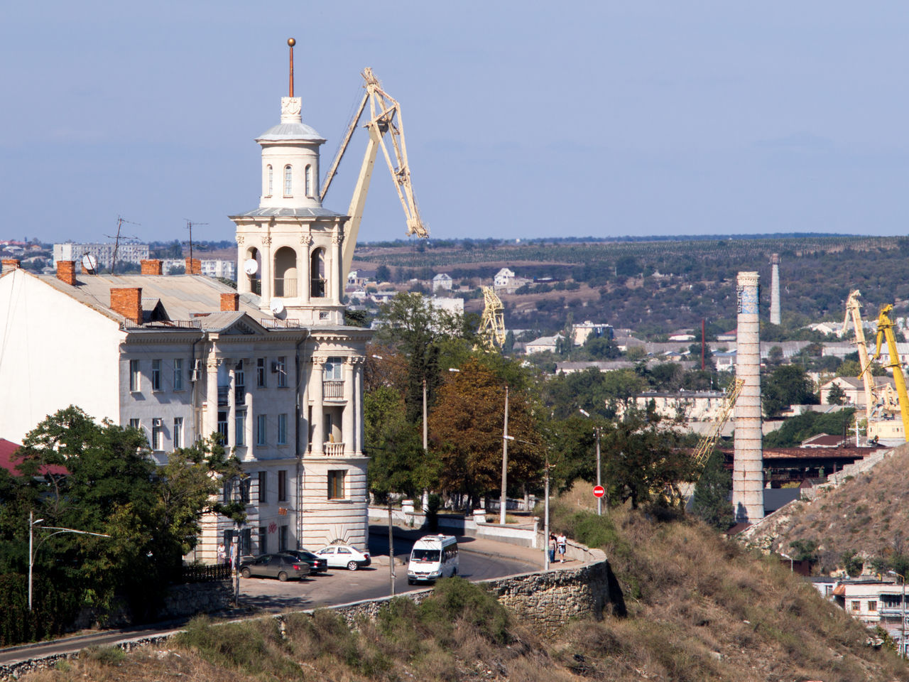 Architecture Building City City Landscape Cityscape Crane Crimea Day Gawlet Landscape No People Outdoors Russia Sevastopol  Sky