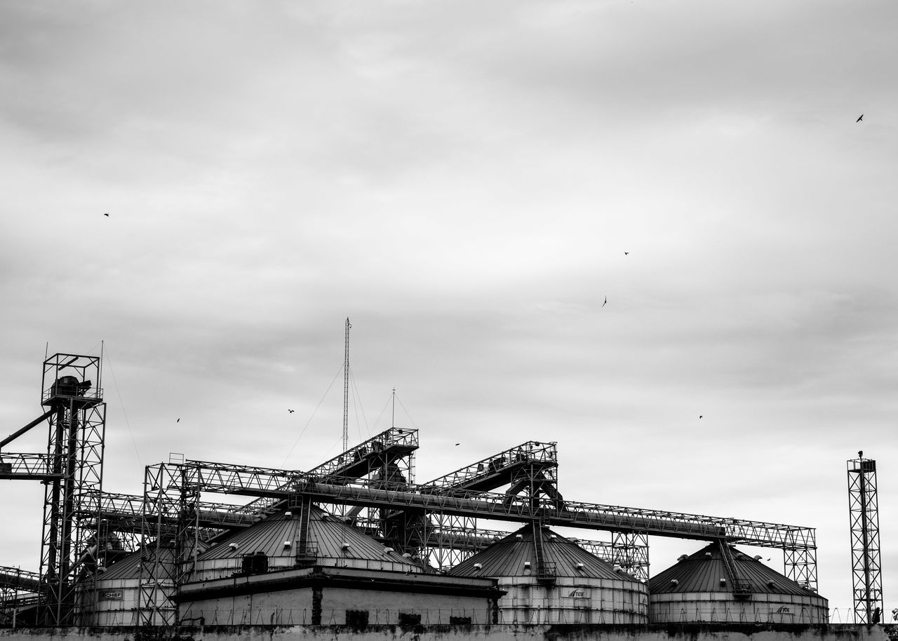 Architecture Architecture Architecture_bw Black And White Blackandwhite Photography Building Exterior Built Structure City Cloud - Sky Cloudy Day Factory Factory Building Factory Chimney High Section Industrial Industrial Landscapes Low Angle View Mexico Monterrey Nature No People Outdoors Scenics Sky
