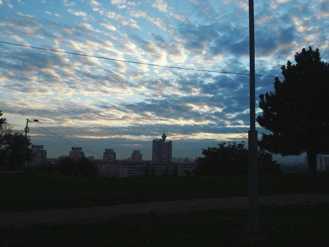 Morning Sky Early Lovely Belgrade,Serbia