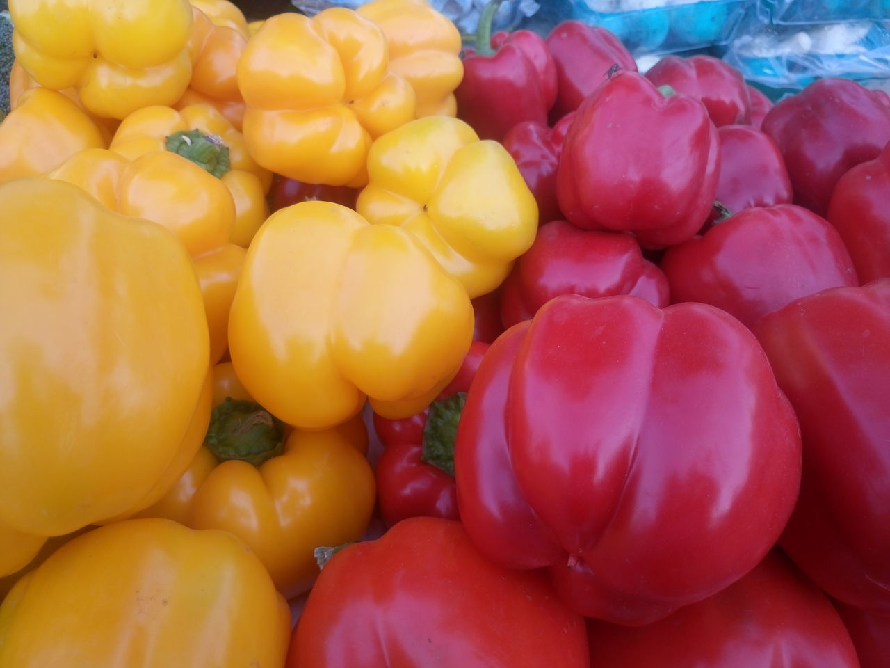 Abundance Backgrounds Bell Pepper Choice Close-up Day Food Food And Drink For Sale Freshness Full Frame Healthy Eating Large Group Of Objects Market Market Stall No People Outdoors Red Bell Pepper Retail  Vegetable Yellow Bell Pepper