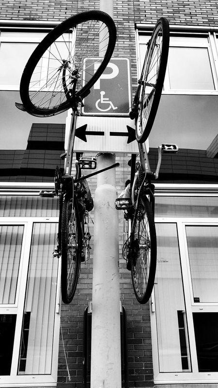 A creative way of storing a bike Black & White My City Street B+W Street Photography
