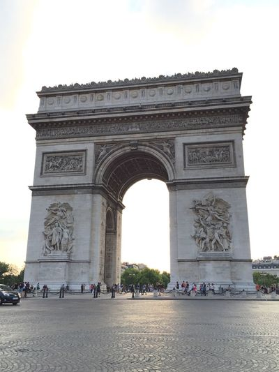 Arc De Triomphe De L'Étoile Paris, France  Arc De Triomphe In The Evening Champs-Élysées  Arc De Triomphe From Champs-Elysees Street A Must See Travel Destination Travel Destination - Paris Very Interesting Hello World Enjoying Life Happy Moments Of Life Relaxing Moments Full Of History