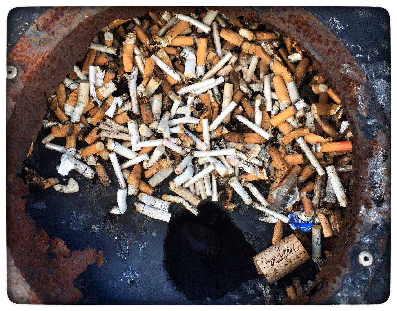Ashtray  Bus Stop Smoking Disgusting  Cancer A Street Cleaning