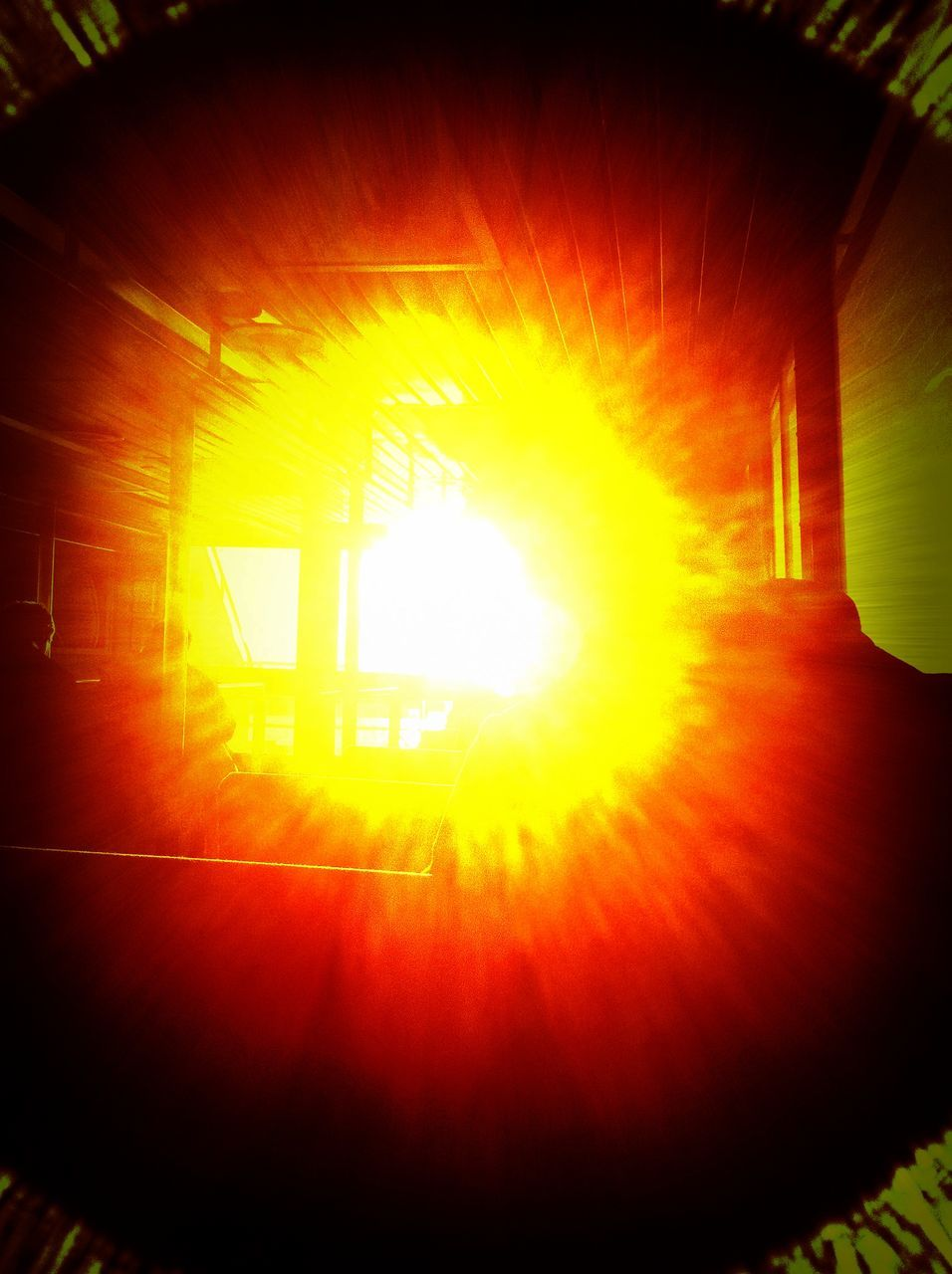 sunlight, bright, sunbeam, lens flare, indoors, no people, brightly lit, close-up, illuminated, day