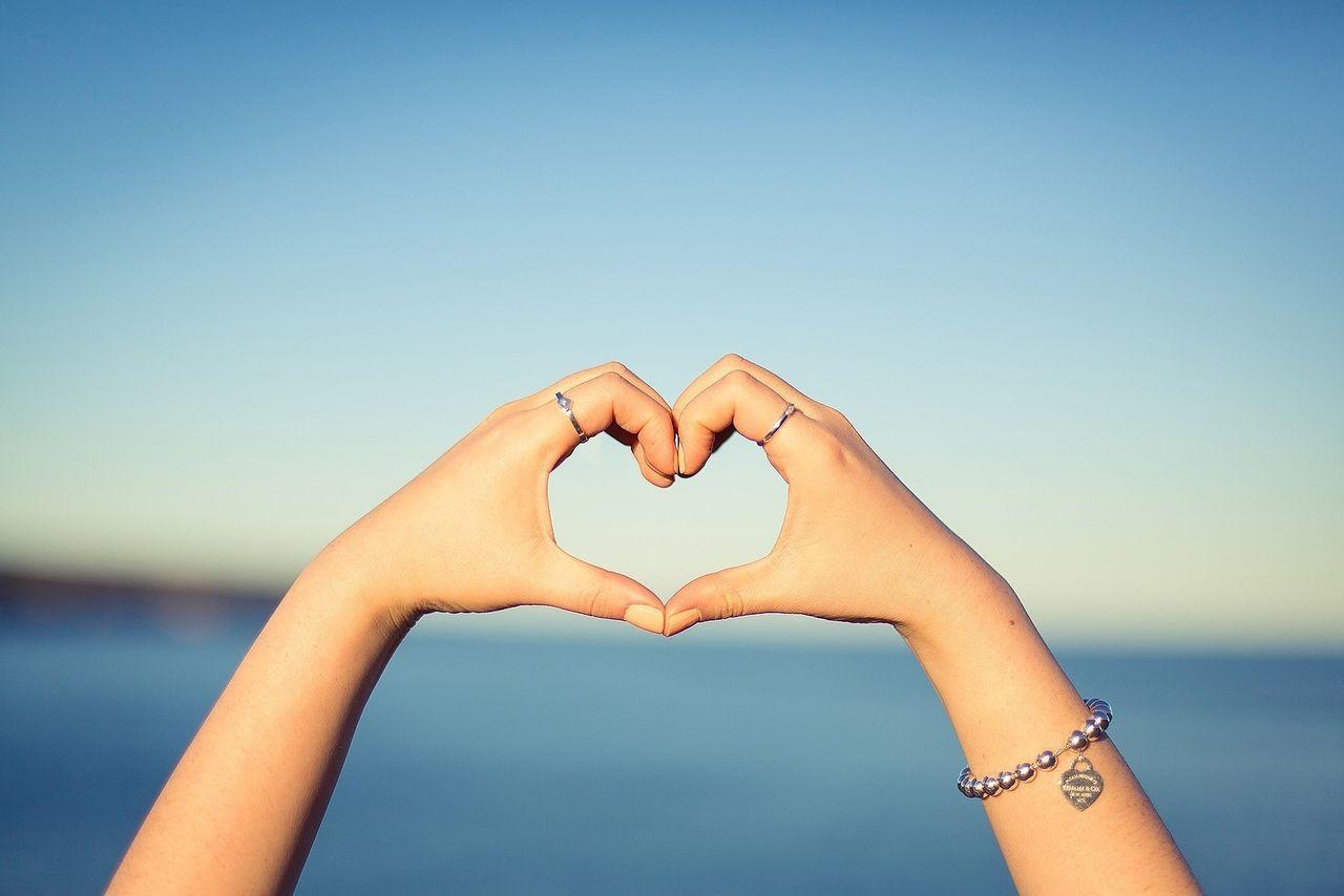 Beautiful stock photos of heart, Arms Raised, Bracelet, Clear Sky, Close-Up