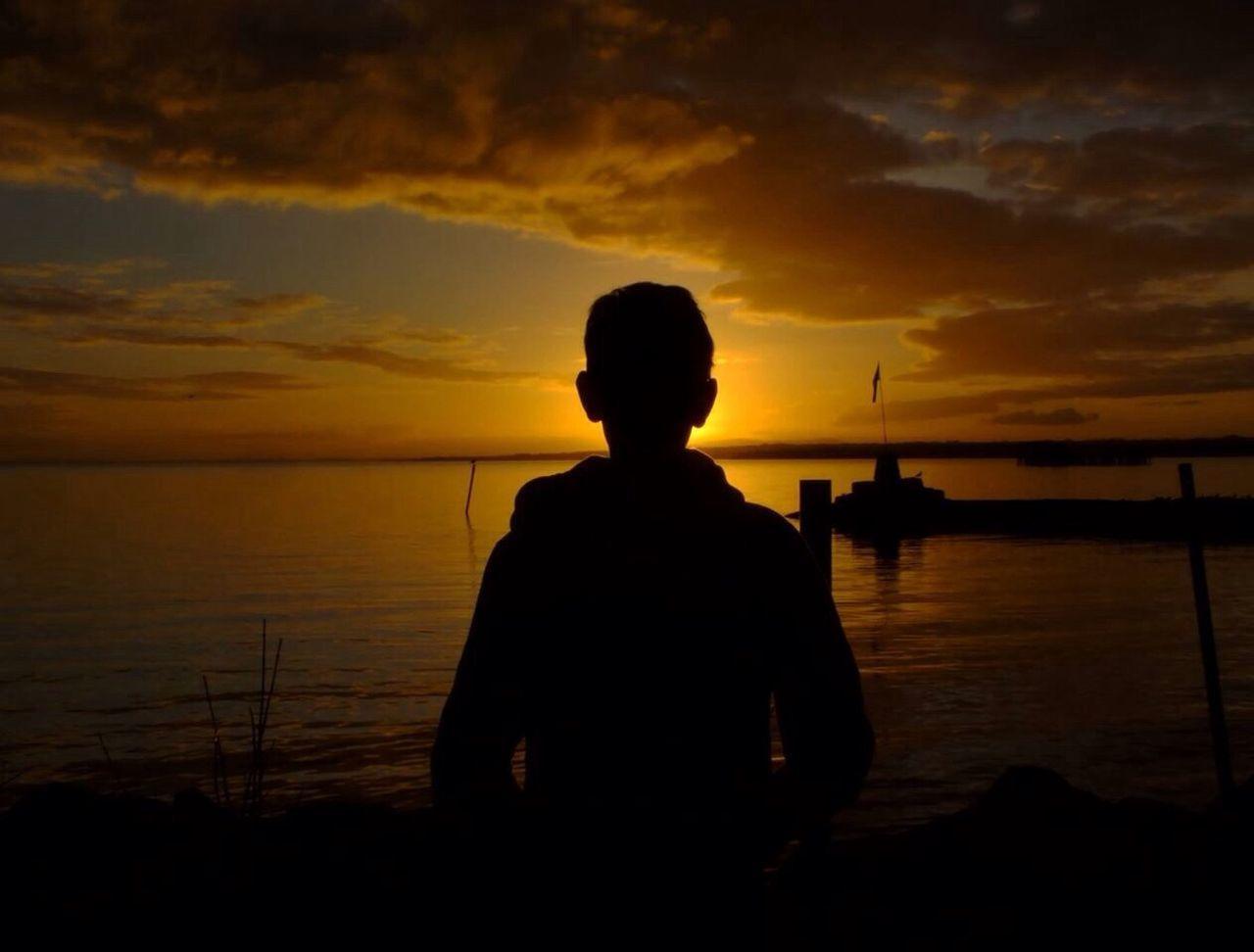 Me. Sunset Reflection Portrait Like4like