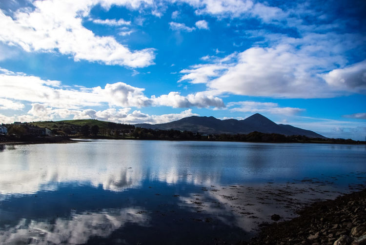 Croagh Patrick #croagh Patrick #ocean #westport Beauty In Nature Cloud - Sky Idyllic Landscape Mountain Nature Reflection Scenics Tranquility