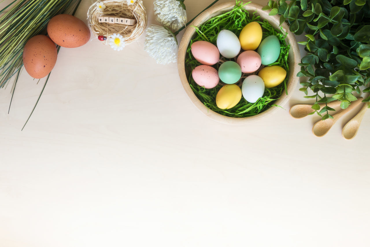 Decoration Easter Easter Easter Egg Easter Eggs Eggs Holiday Multi Colored No People Religion Tradition Wheat Wood - Material