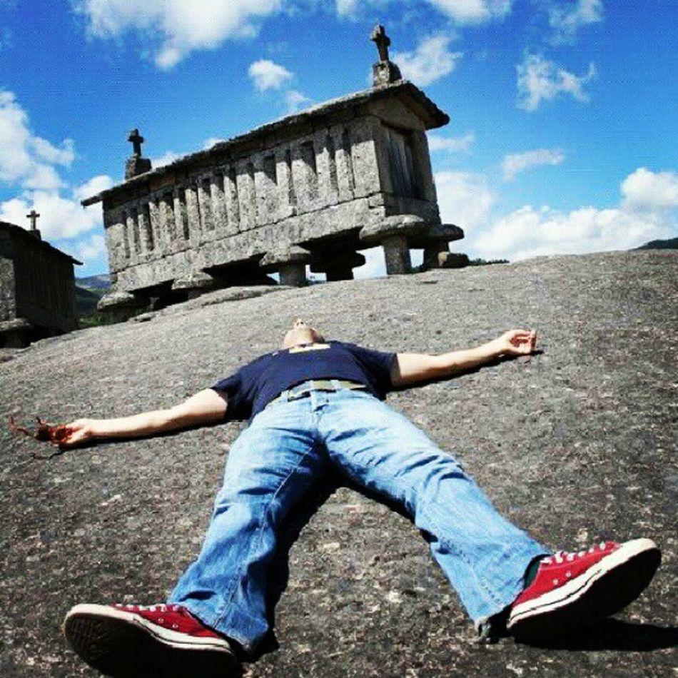 io, morto, nell' entroterra portoghese Portugal Portogalli Espigueiros Soajo