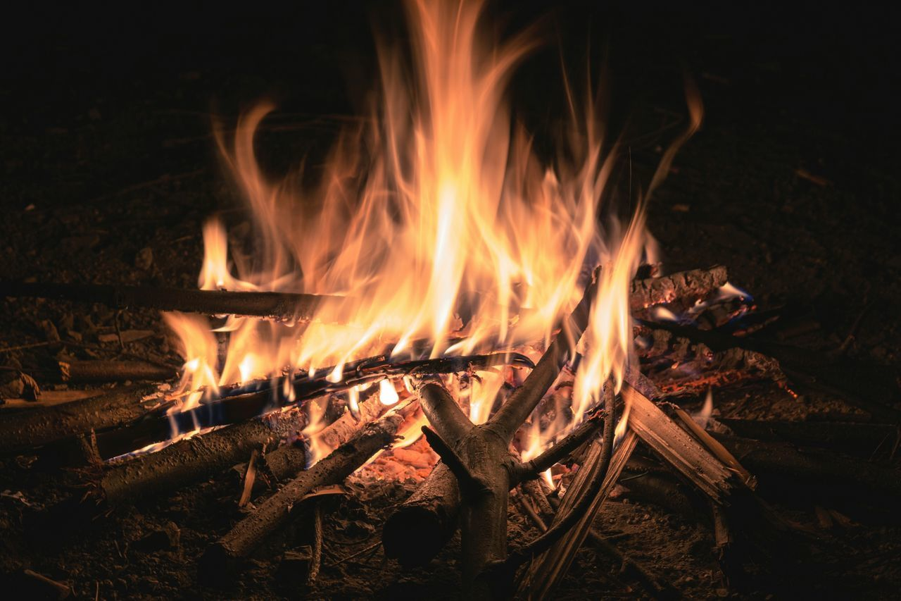 Camp Fire Fireplace Light And Shadow Nightphotography EyeEm Nature Lover
